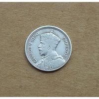 Южная Родезия, Георг V (1910-1936), 3 пенса 1932 г., серебро
