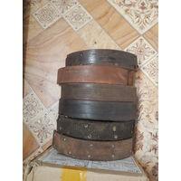 Тормозные колодки барабанные 6 шт. от москвич 412, все бу, одна как новая, но отклеен феродо.