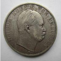 Пруссия. 1 союзный талер 1865 А.  10Е-22