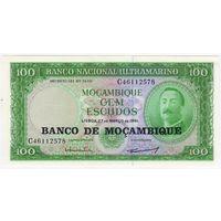 Мозамбик 100 эскудо 1961 год UNC пресс