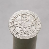 Полугрош 1564 Сигизмунд II Август 1545-1572 КРАСИВАЯ МОНЕТА