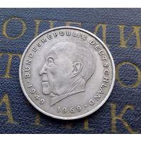 2 марки 1973 (J) Конрад Аденауэр Германия ФРГ #01