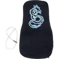 Накидка на сиденье с подогревом черная Ерема Неоновый дракон