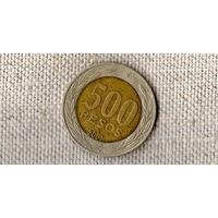 Чили 500 песо 2001 /биметалл// (ON)