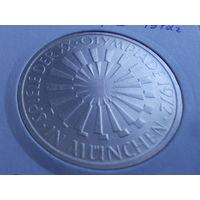 "Германия 10 марок 1972 ""Олимпиада 1972 г в Мюнхене.серебро."