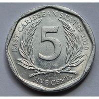 Восточные Карибы 5 центов, 2010 г.