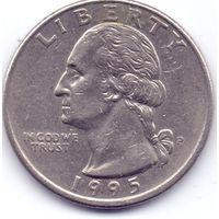 США, 25 центов(квотер)  1995 года.