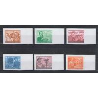3 Рейх Рейхспочта чистая беззубцовая серия из 6-ти марок с боковым полем из листа неофициальный выпуск