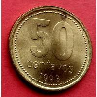 01-31 Аргентина, 50 сентаво 1993 г.