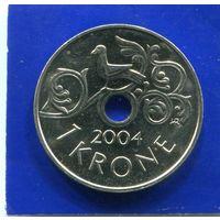 Норвегия 1 крона 2004