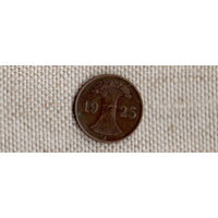 Германия 1 пфенниг 1925 J рейхспфенниг(Ab)