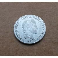 Венгрия (Габсбурги), 20 крейцеров 1848 г., серебро, Фердинанд I (1835-1848), легенда на венгерском
