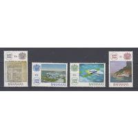 Флот и космос. Багамы. 1988. Полная серия. Michel N 682-685 (11,0 е)
