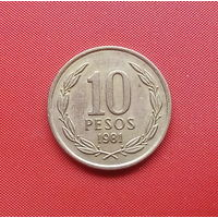 67-33 Чили, 10 песо 1981 г.