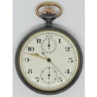 Часы карманные. Вороненый хронограф. Шикарные. Швейцария.