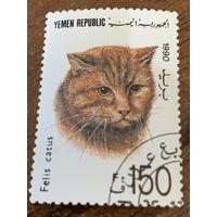 Йемен 1990. Домашние кошки. Марка из серии