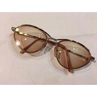 Очки для зрения металл тонированные линзы стекло диоптрия - 4,75