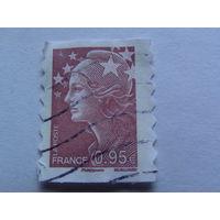 Франция марка светло каричневая 0.95 евро   распродажа