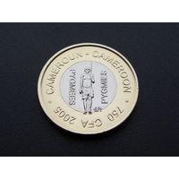 Камерун. 750 франков 2005 год / Пигмеи / Би-металл / ФАО / UNC X#25а