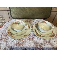 Чайная Чашка трио Цветы Германия 50-е г