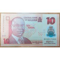 10 найра 2018 года - Нигерия - UNC - полимер