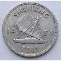Фиджи 1 шиллинг 1934, серебро