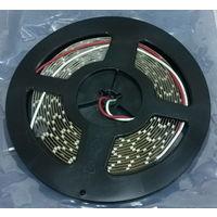 ЗЕЛЕНАЯ 3528 ((БОБИНА 5 МЕТРОВ)) светодиодная лента. Без силикона. 60 led/m