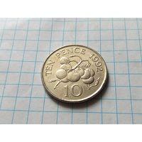 Гернси 10 пенсов, 1992