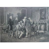 СТАРИННАЯ ГРАВЮРА   C. Seiler   Der  Uertrag zu Baag    37 x 28cm.