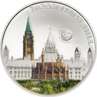 "Палау 5 долларов 2014г. ""Мир Чудес: Парламентский холм"". Монета в капсуле; сертификат. СЕРЕБРО 20гр."