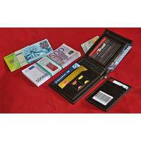 Бумажник кожаный с отделениями для карт и ID