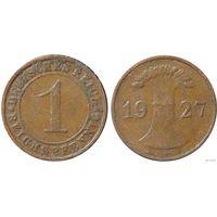 YS: Германия, 1 рейхспфенниг 1927F, KM# 37