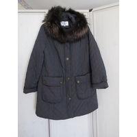 Куртка утепленная с красивым мехом. Р-р 48-50