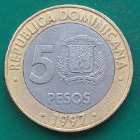 5 песо 1997 ДОМИНИКАНА