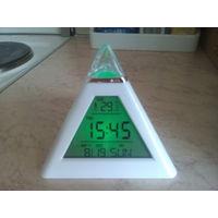 Часы-будильник-термометр-календарь-но чник!