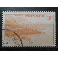 Монако 1949 вид на Монте-Карло