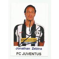 Jonathan Zebina(Juventus, Италия). Живой автограф на фотографии.