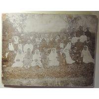 Госпиталь Первая мировая,1915 г., Барановичи (большое фото на картоне)