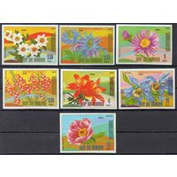 Флора Цветы Экваториальная Гвинея 1977 год чистая серия из 7 б/з марок (М)