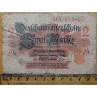 2 марки 1914г. Берлин (красная печать)