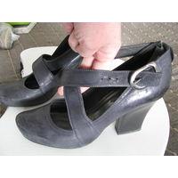 Туфли натуральная кожа р.39,5-40