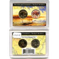 США 2005 набор 5 центов 2шт в футляре ЦВЕТНОЙ ПОЗОЛОТА