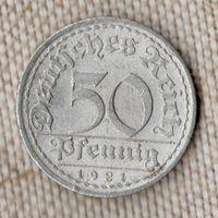 Германия 50 пфеннигов 1921 A//(Oct)