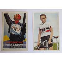Олимпиада 1936 г. Третий Рейх. Две карточки из группы номер 54 (не частая), отличное состояние...
