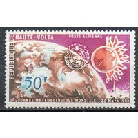 Метеорология Верхняя Вольта 1965 год чистая серия из 1 марки