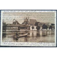 Пинск. На лодке по реке Пина. 1-я мировая. 1916 г. Прошла почту.
