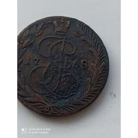 Хорошие 5 копеек 1768 года