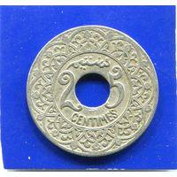 Марокко 25 сантимов 1924