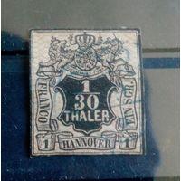 Германия Ганновер 1856/57г 1/30 талера Mi10