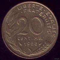 20 сантимов 1988 год Франция